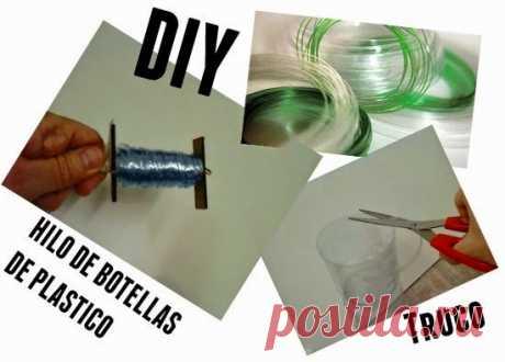 Hilo de botellas de plastico truco y tutorial - enrHedando