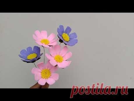 DIY Felt cosmos flowers   Cara membuat bunga flanel cosmos