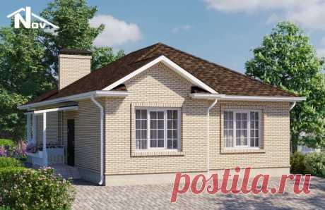 Проект одноэтажного дома 85 м2 9х12 метров - Новация 173