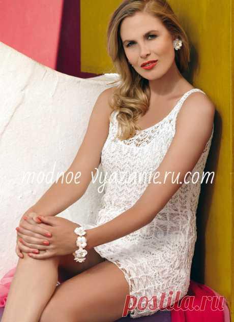 Модные летние платья связанные спицами - Klubok.ru.com