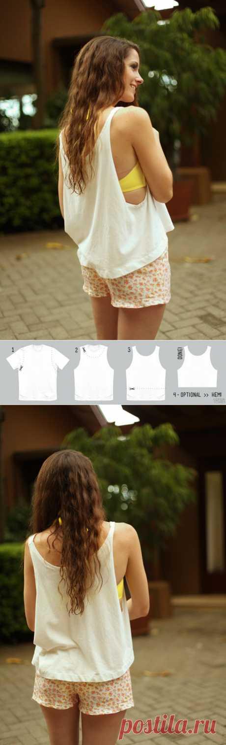 Топик из футболки (Diy) / Футболки DIY /