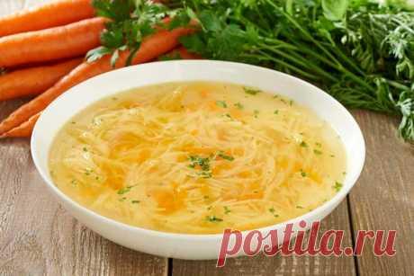 Простой суп на курином бульоне – пошаговый рецепт с фото.
