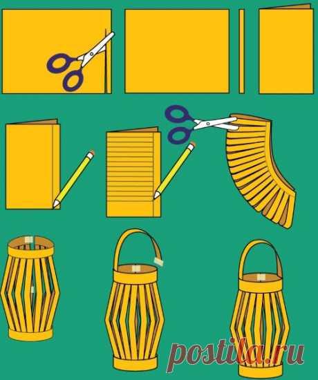 Шаблон новогоднего фонаря из бумаги. Что потребуется для изготовления бумажного фонарика. Самое простое — и самое весёлое