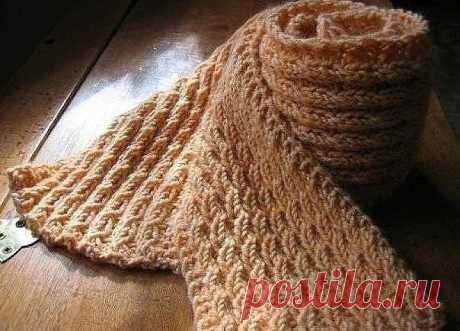 Узор «Колоски», получится интересный шарф!