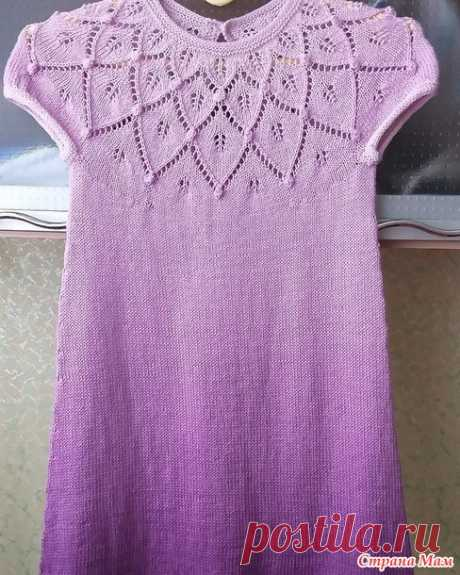 Платье для девочки 6 лет - Вязание - Страна Мам