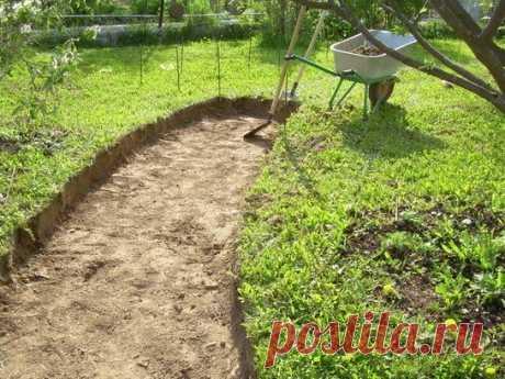 » Как сделать на даче садовую дорожку из бетона