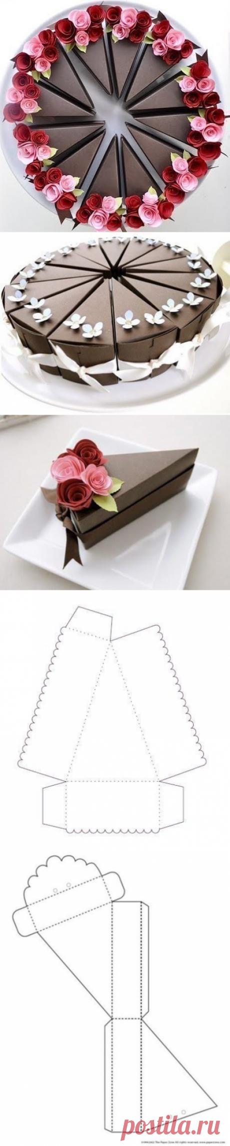 Необычная подарочная упаковка в виде торта