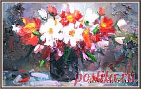 живописная картина, живопись, натюрморт, картины маслом на холсте Художник Сёкин Василий.