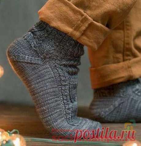 Мужские носки «Two Cables» | ВЯЗАНЫЕ НОСКИ