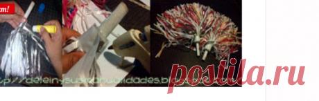 Delein Падилья и его Ремесла: Учебник как сделать с помпонами материалов вторичной переработки