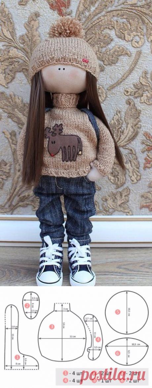 Шьем модную куклу (есть выкройки).