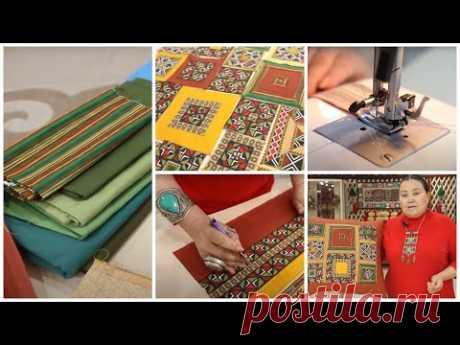 Лоскутное шитье, идеи для декора своими руками #1. Куда применить обрезки тканей - витражи. Пэчворк.