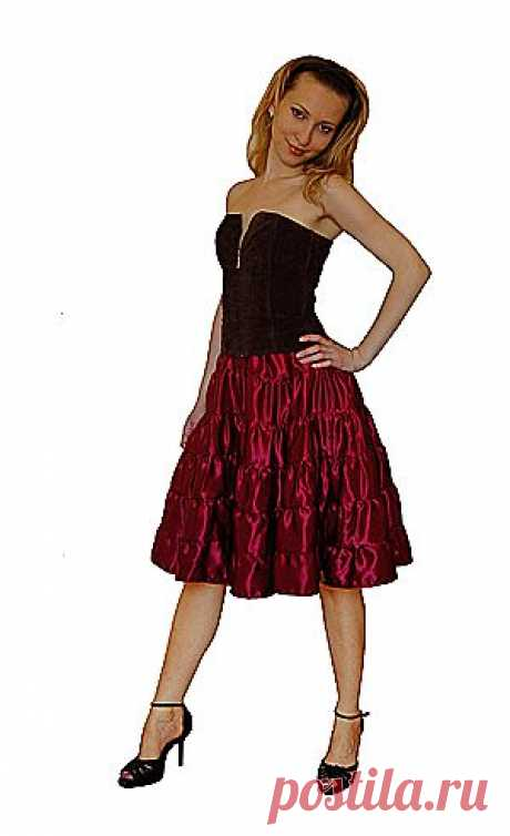 Мастер-класс по изготовлению многоярусной юбки -