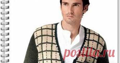 Мужской пуловер спицами Как вязать мужской пуловер спицами - схема и описание вязания