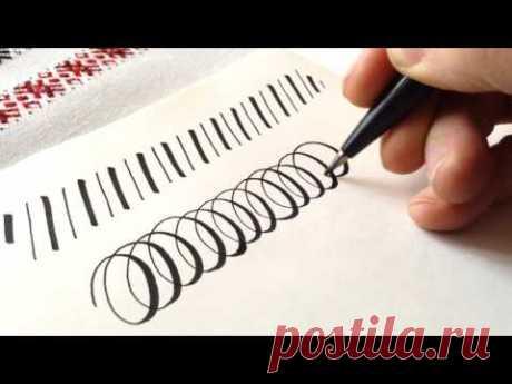Писать БРАШ-ПЕНОМ как ПЕРОМ / PENTEL BRUSH SIGN PEN