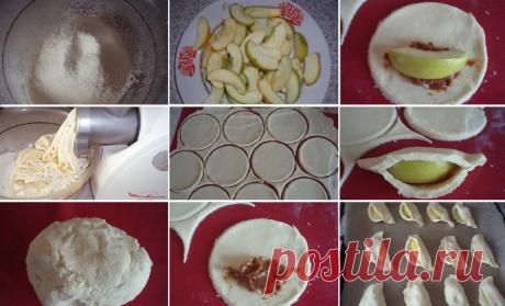 Вкусное творожное печенье с яблоками и сгущенкой - Типичный Кулинар