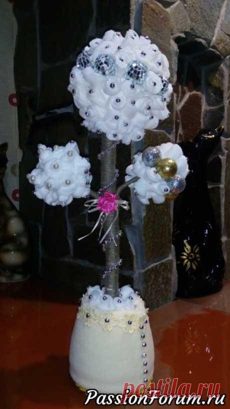 Новогоднее дерево счастья! - запись пользователя galya-58 (Галина Бурова) в сообществе Прочие виды рукоделия в категории Флористика, топиарии