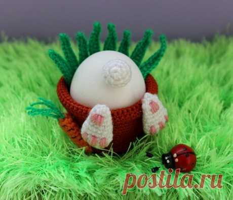 Горшочек под яйцо к Пасхе! (на англ-м) https://www.crazypatterns.net/ru/blog/1500/flower-pot..