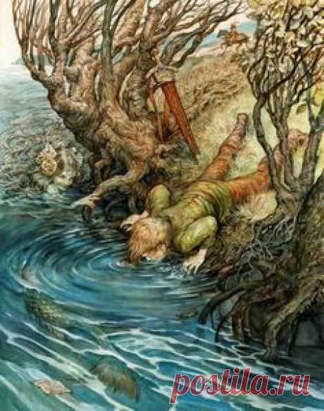 """Brown Fairy Book \""""The Mermaid and the Boy\"""" by Omar Rayyan"""
