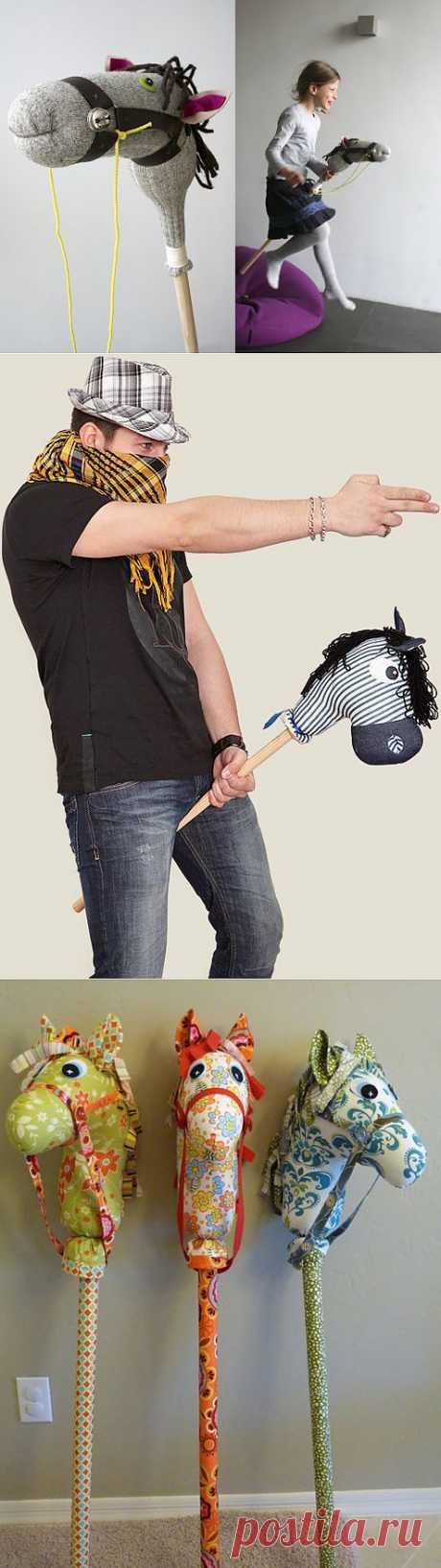 Лошадка-скакалка своими руками. Замечательная игрушка, которая понравится любому ребенку.