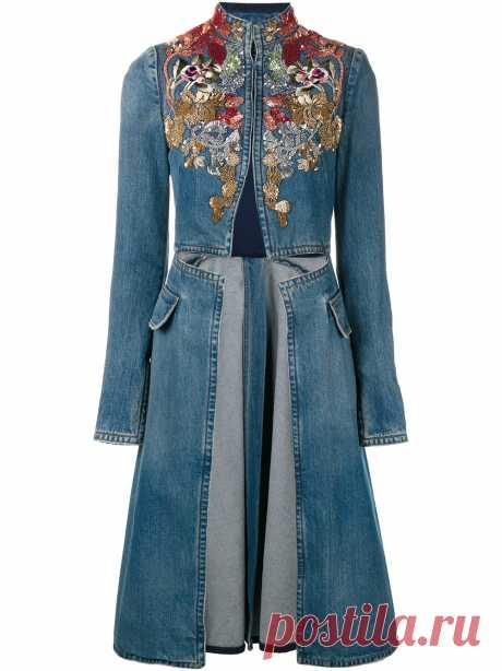 Александр Маккуин | Украшенные Denim пальто | Женская одежда | Browns Мода