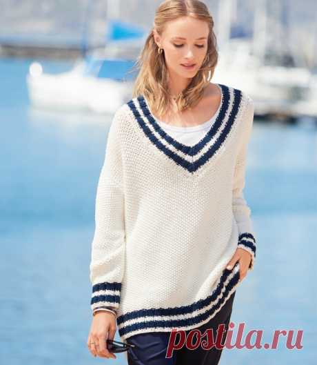 Пуловер оверсайз в морском стиле Diy Модная одежда и дизайн интерьера своими руками