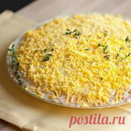 Рецепт: Мимоза с сыром - все рецепты России
