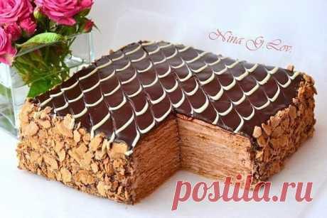 """Торт Наполеон """"Шоколадно-сливочный"""""""