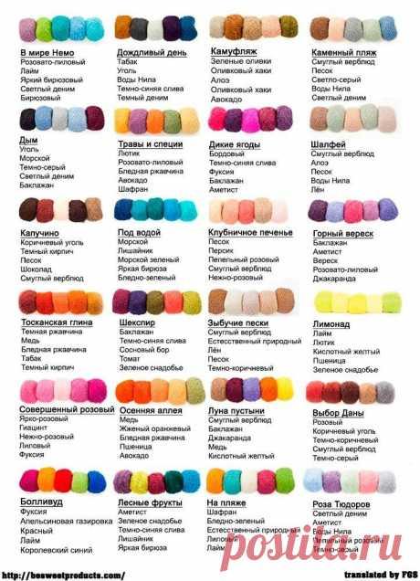 Мини-памятка о том, как правильно сочетать цвета при вязании