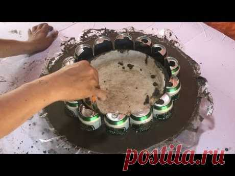 DIY - ❤️ How to Make Your Wife Happy ❤️ - ideas Combining small fish ponds and flower pots