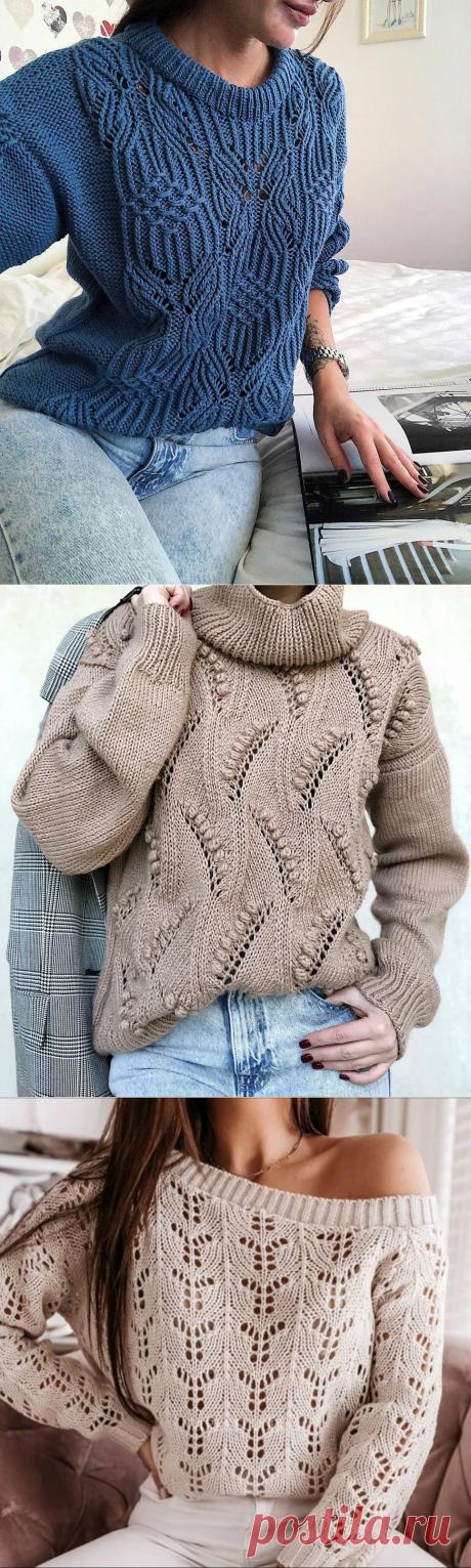 Схемы узоров для модных свитеров 2021   Копилка узоров (Вязание спицами)   Яндекс Дзен