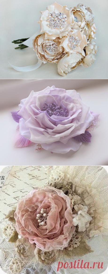 Цветы своими руками из ткани (идеи и мастер-класс) | Рукоделие