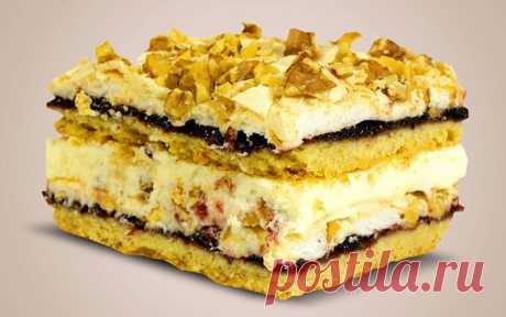 Польский песочный торт «Пани Валевская»