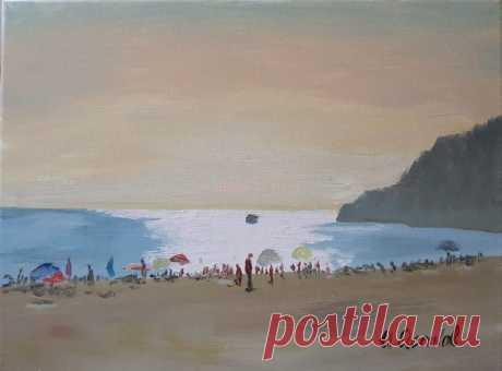 Пляж на Адриатике - Официальный сайт художника Игоря Ясакова