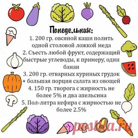 Примерное меню ПП на неделю для тех, кто хочет похудеть или быть в форме! - Советы для тебя