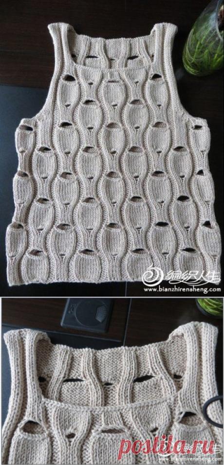 Sleeveless jacket interesting pattern