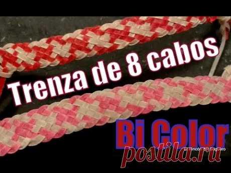 """Trenza de 8 (Trama 1x1) """"Bi Color"""" """"El Rincón del Soguero"""""""