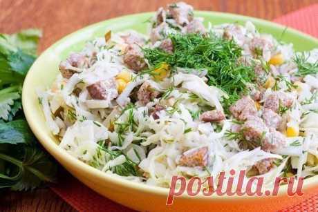 Овощной салатик с сухариками — СОВЕТНИК