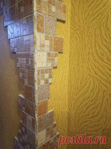 Шикарная идея декора стены в кухне с помощью самой дешевой напольной плитки всего за 3 000 рублей | Домовой | Дизайн интерьера и ремонт