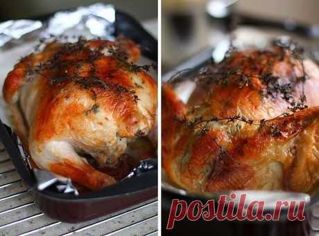 Курица с инъекциями белого вина и сливок  Ооо, эта курица! Признаться, когда в первый раз ее готовила, такого результата никак не ожидала- нежнейшее мясо, даже грудка, которая часто бывает суховатой. Какой-то абсолютно волшебный запах. И в тот момент, когда достаешь готовую курицу из духовки, красивую, с поджаристой, хрустящей корочкой, чувствуешь себя буквально на седьмом небе. А если в этот момент кто-то заглянет на кухню, кто-кто, кто не знал, что его ждет такое угощени...