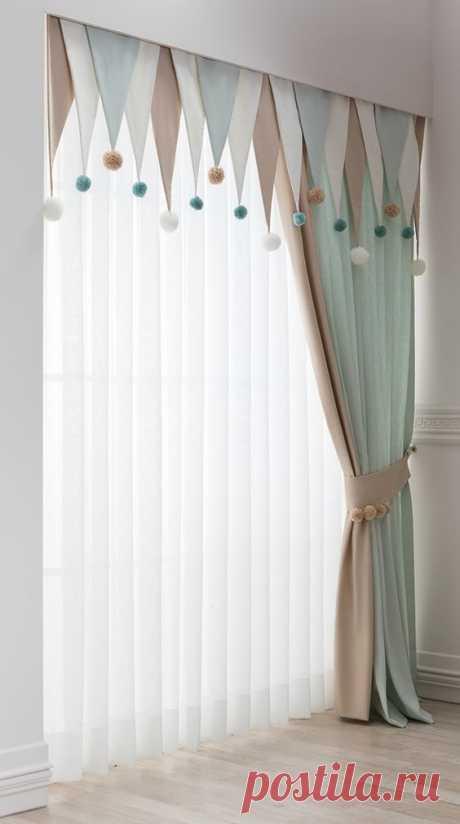 Идеи как оригинально оформить окно текстилем. — HandMade