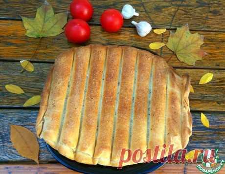 Лепёшка с сыром, зеленью и чесноком – кулинарный рецепт