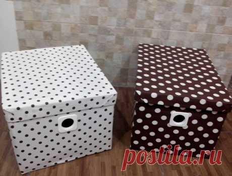 Стильные коробки из подручных материалов