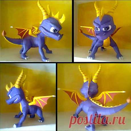 Spyro papercraft I have finished to build my Spyro papercraft. This is the download For instructions this is the For only the pdf this is the