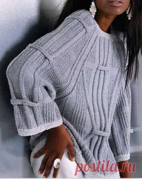 Вязание спицами - Джемпера спицами - Просторный пул от дизайнера Mari Lynn Patrick
