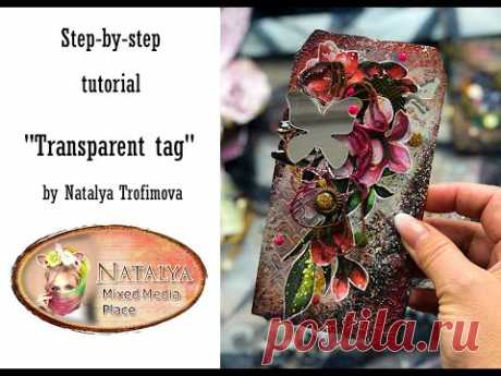 Transparent tag tutorial for Mixed Media Place