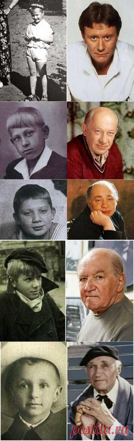 Любимые актеры СССР в детстве и зрелом возрасте  :)
