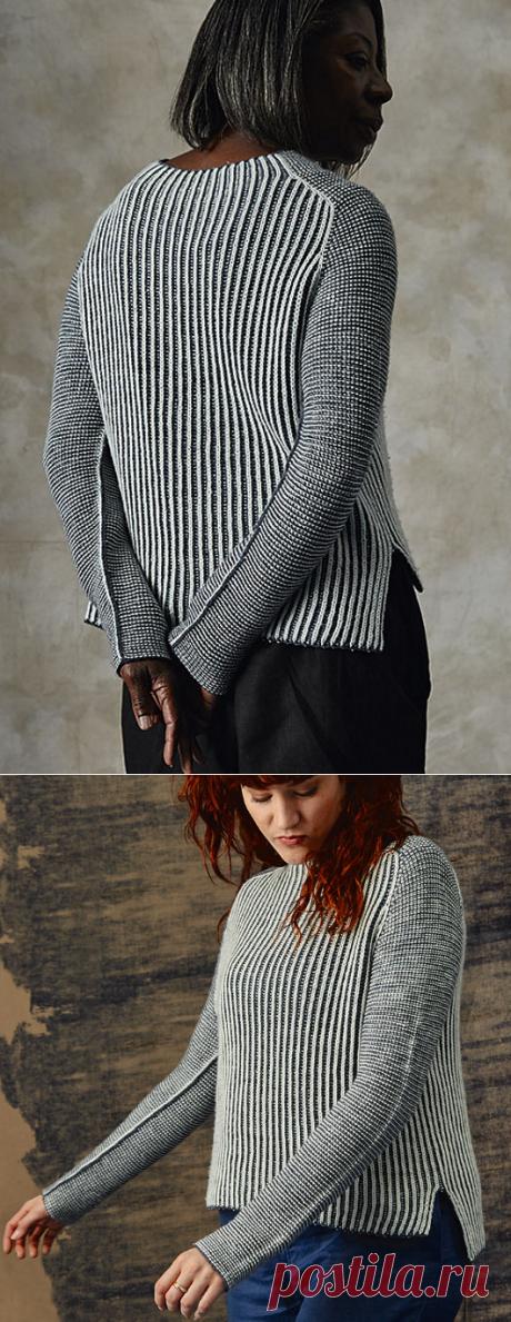 Вязаный пуловер Luna   ДОМОСЕДКА.Описание платное.