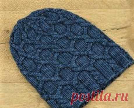 3 красивые модные шапки, связанные спицами интересными узорами (описание)   Идеи рукоделия   Яндекс Дзен