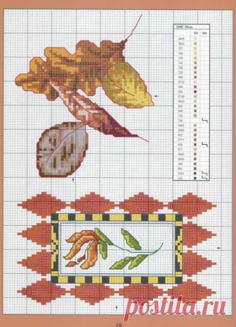 Отличный журнал вышивки Marie Barber - Cross-Stitch Florals